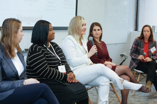 VU Women in Tech conference participants share stories during the 2020 Conference.