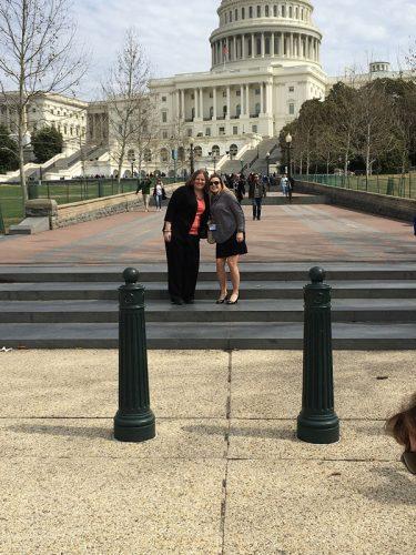 Bradley students Katelyn Stites and Nicole Delinski