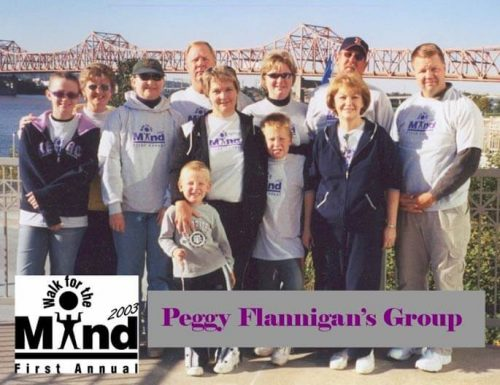 Flannigan's group at the first annual Walk for the Mind in 2003.