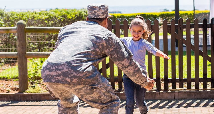 Deployment and geographic separation are major stressors for military families.