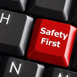 Safety First button on a keyboard