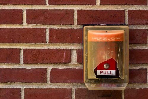 Old fire alarm pull