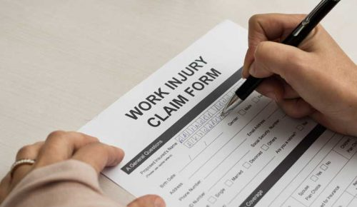 Signing Work Injury Claim Form