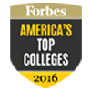 Forbes America's Top College 2016 logo