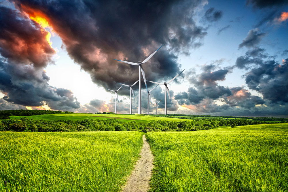 Solar and wind energy are major forms of renewable energy.