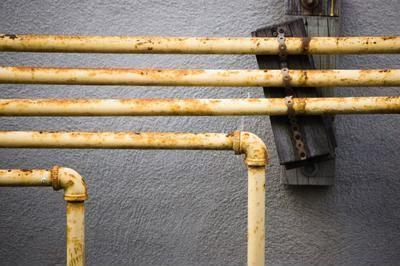 Old plumbing fixtures.