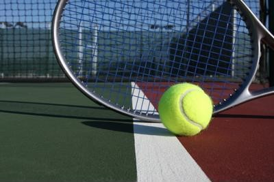 A tennis racket containing carbon nanotubes.