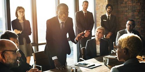 Business meeting being held