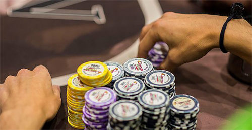 An image of a person gambling.