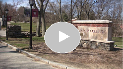 Image of video showing Regis campus