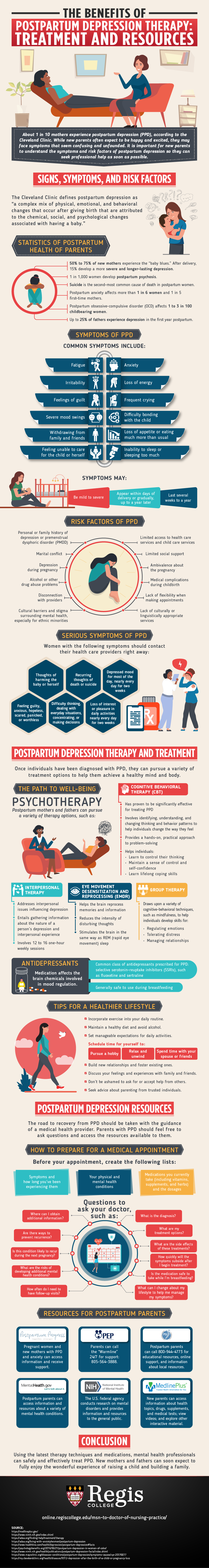 How therapy can be used to treat mothers with postpartum depression (PPD)