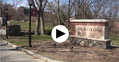 video still of Regis campus