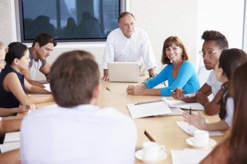 group meeting at a non-profit organization
