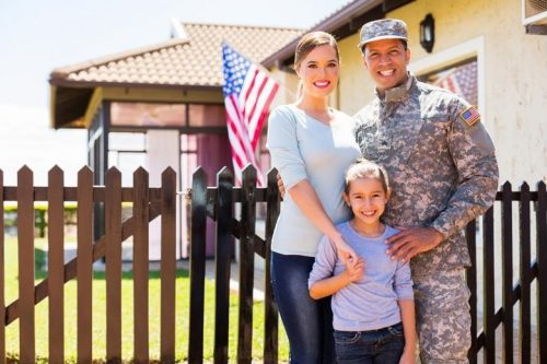 American military family stationed in Afghanistan combat zone.