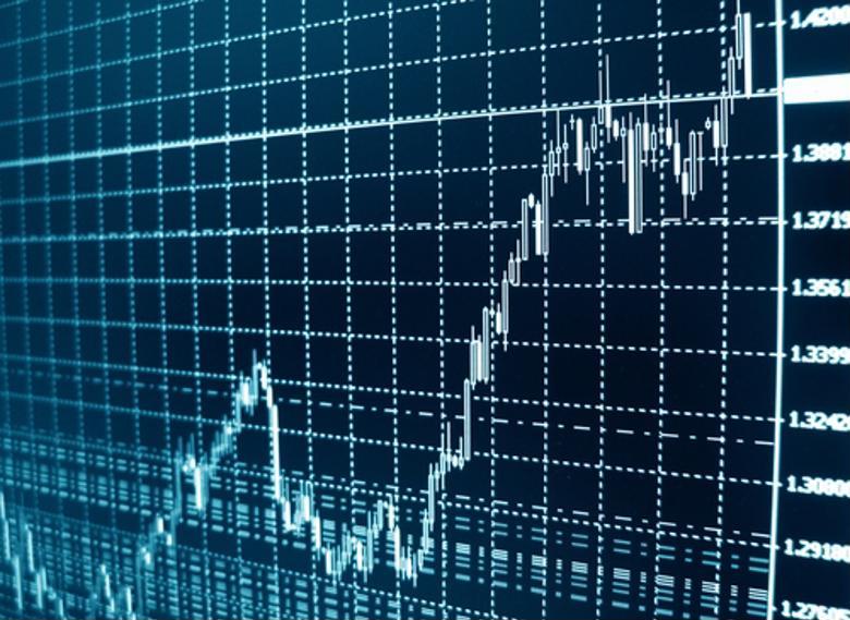 A CPA student studies a financial graph