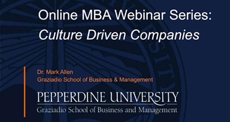 Culture Driven Companies (Webinar)