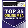 Top 25 online MBA programs