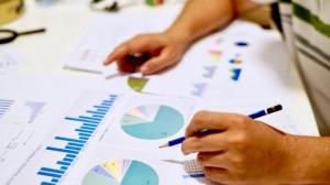 A PR budget maker looks at spending breakdowns.