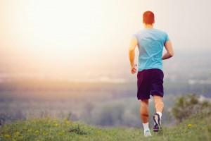 Man exercising to reduce stress