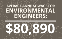 Average Annual Wage for Environmental Engineers: $80,890