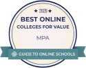 SR Education 2019 Best Online Program - MPA badge