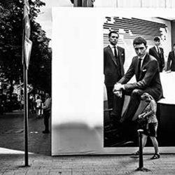 Black and white photo of suite PR men