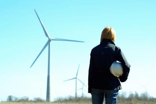 Logistics civil engineer and windmill