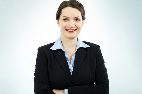 Young female business professional