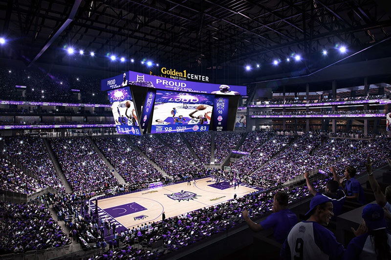 Inside the Sacramento Kings arena