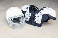 Football Helmet and Shoulder Pads