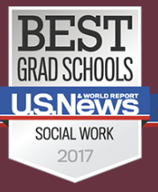 U.S. News Best Grad Schools Social Work badge
