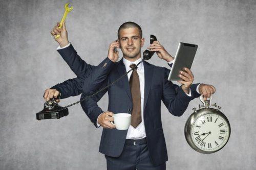 Public affairs manager multitasking