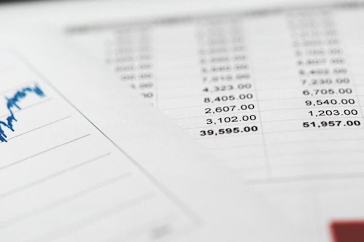 financial spreadsheets