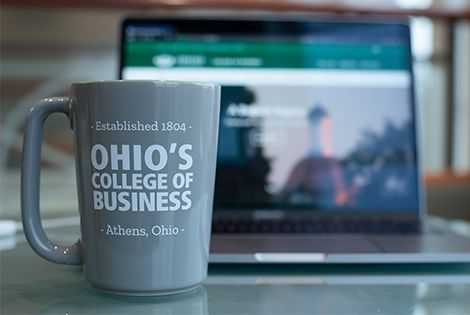 ohio coffee mug and laptop
