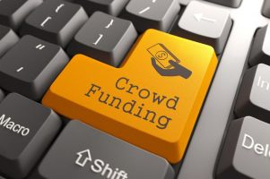 'Crowdfunding' key on keyboard