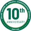 10th Anniversary Online Master of Athletic Administration Program Badge