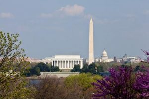 Image of Washington monument and Lincoln memorial