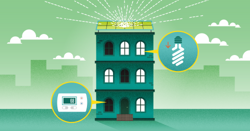 There are 12 easy ways to save energy and money at your home or office.