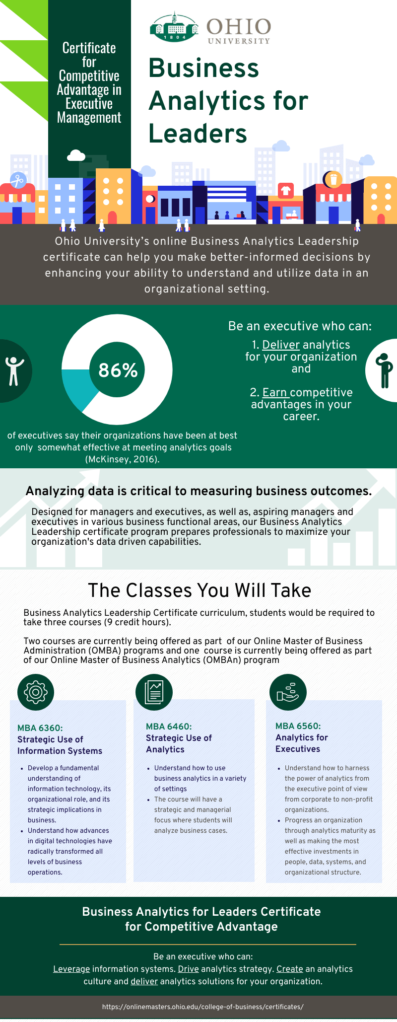 Graduate certificate dedicated to leaders who want business analytics