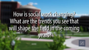 Image with text: How is social work changing?