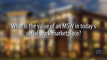 Image with text: What is the value of an MSW in today's social work marketplace?