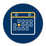 Calendar Icon: Illustration of a calendar with one day highlighted representing UNR's three start dates.