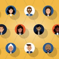 diverse people working together