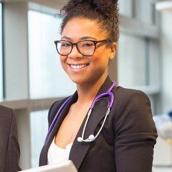 Women healthcare worker.