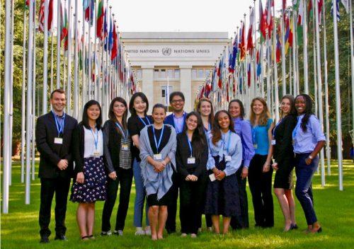 USC MPH Students in Geneva
