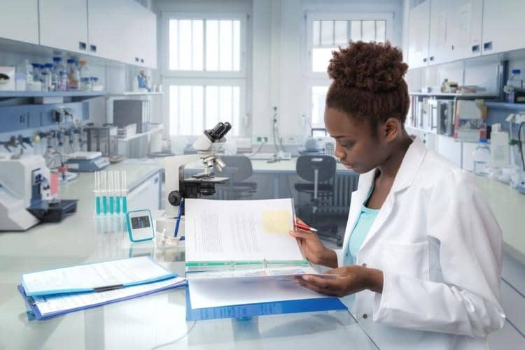 A clinical project manager evaluates clinical trial data.