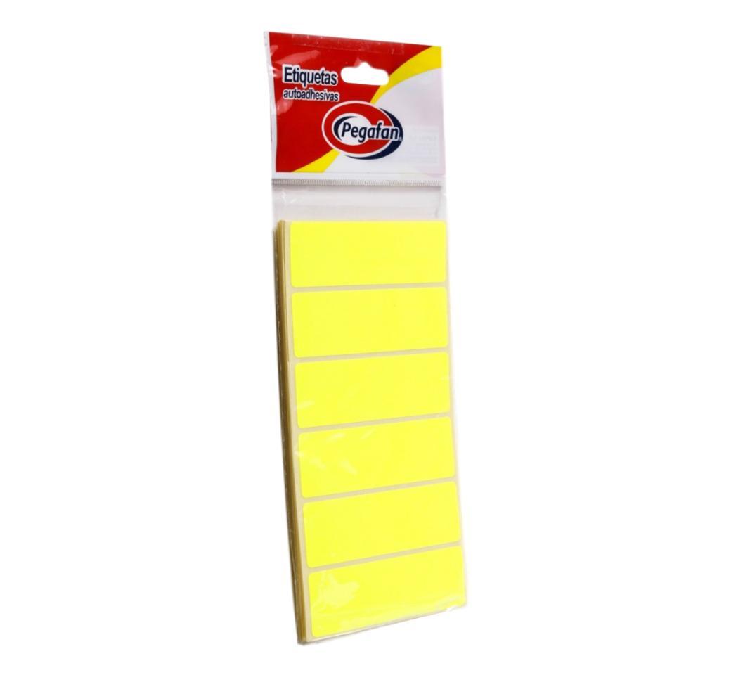 Etiquetas 23.5 x 76 mm Fluor Amarilla Pegafan