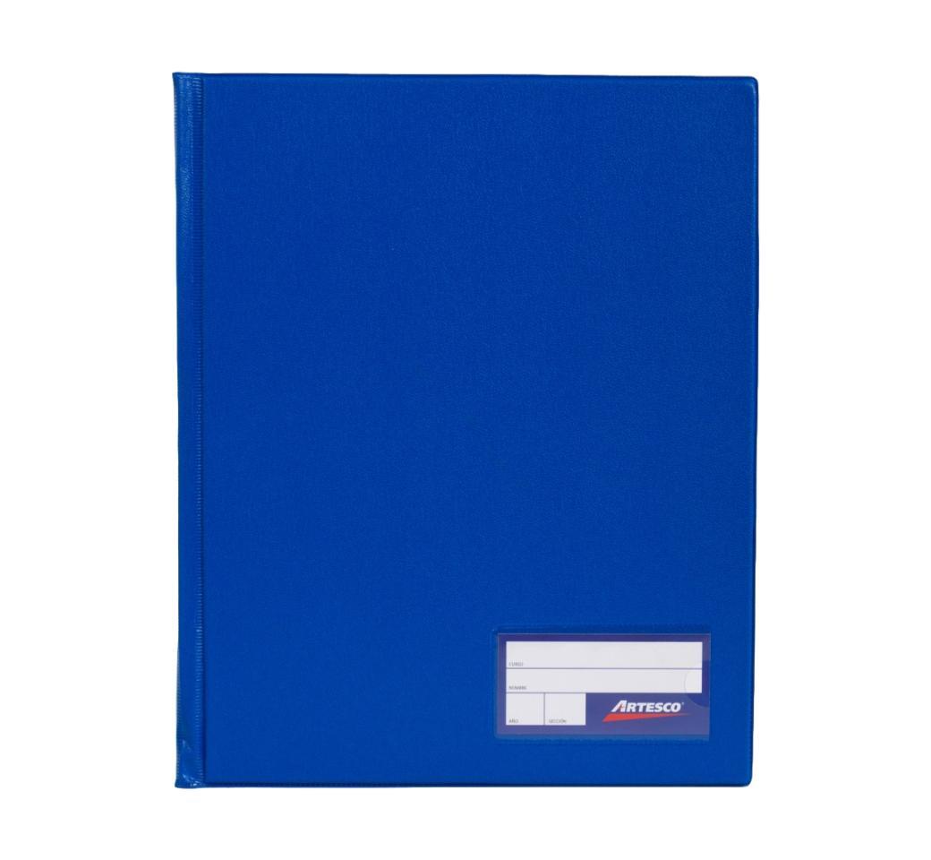Folder Doble Tapa A4 con Fastener Gusano Azul Francia Artesco