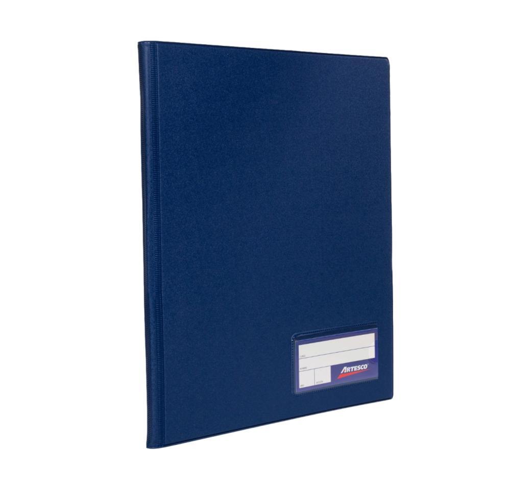 Folder Doble Tapa A4 con Fastener Gusano Azul Oscuro Artesco