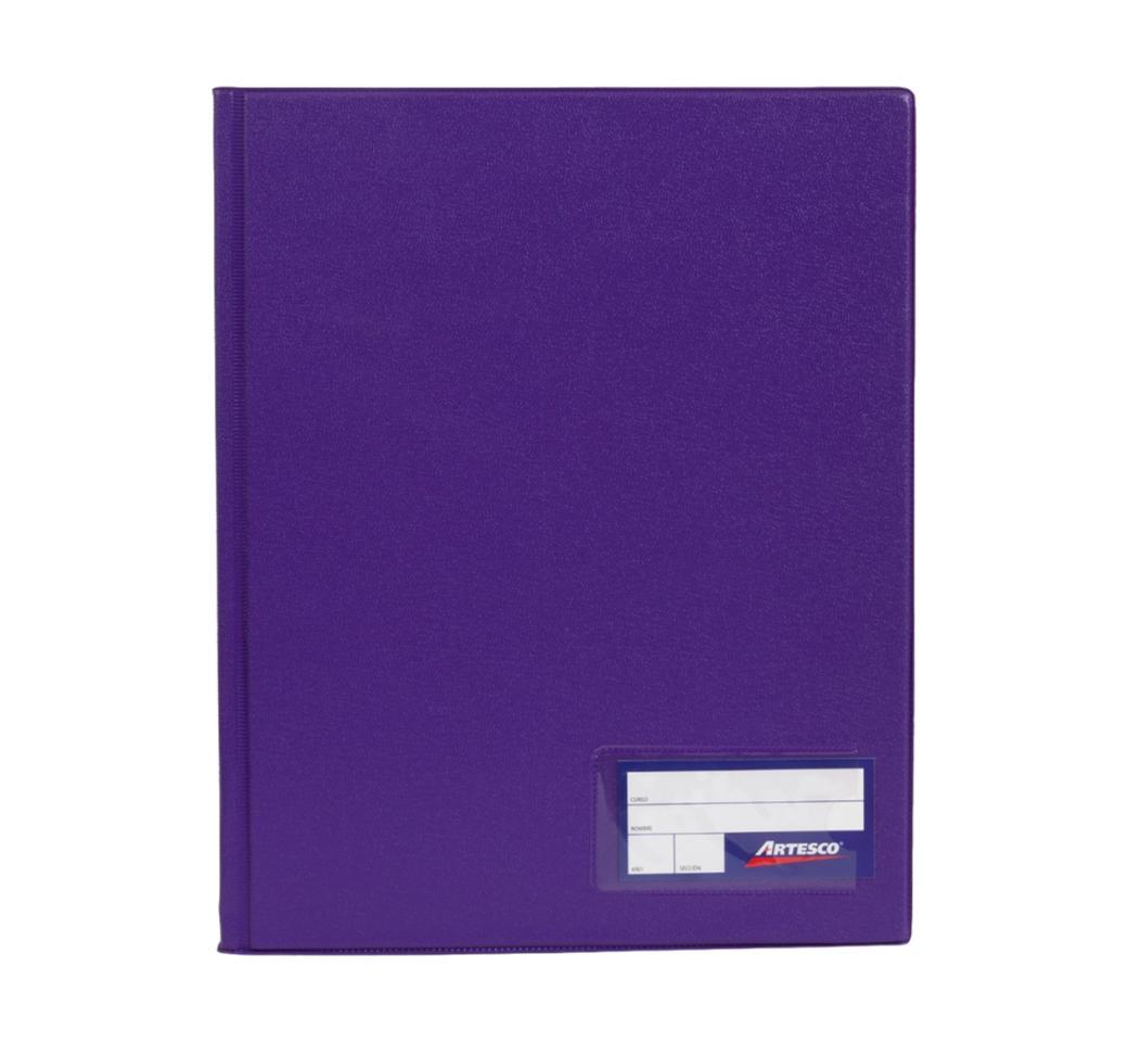 Folder Doble Tapa A4 con Fastener Gusano Morado Artesco